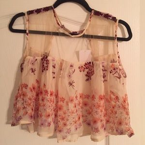 Gorgeous floral Free People top!